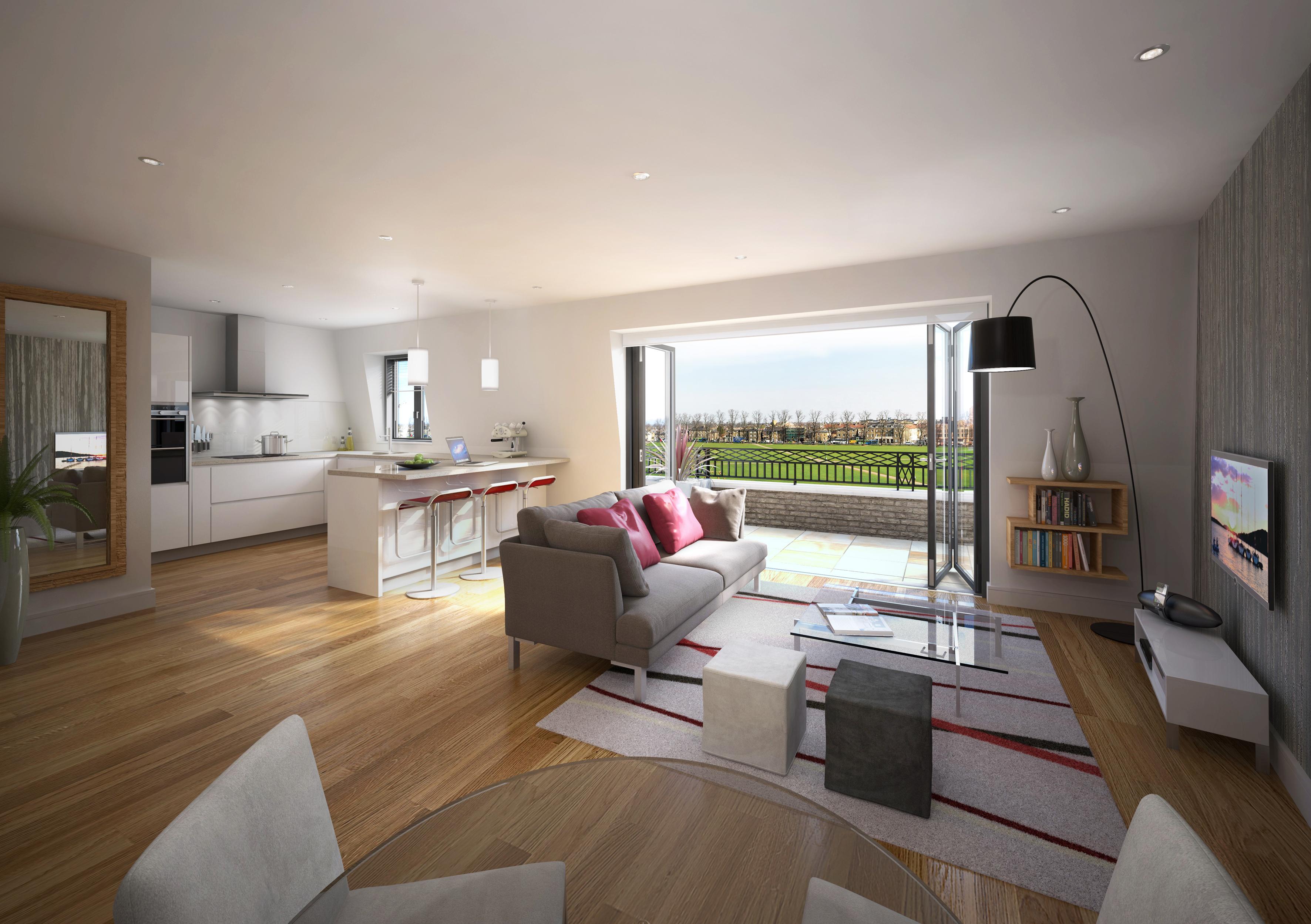 3d visualisation interiors workshop76 for Living room uk