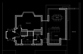 House extension, planning application drawing