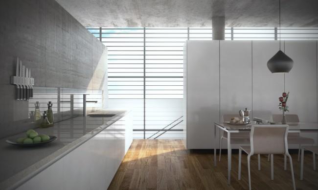 Louvred kitchen