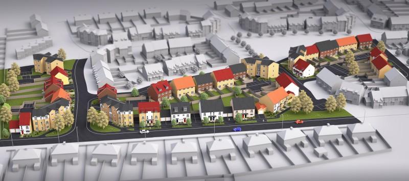 Housing, aerial view